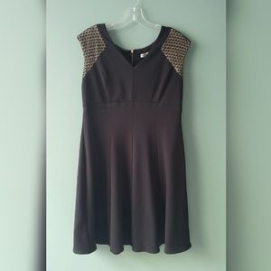 Flared Black and Gold dress size 12